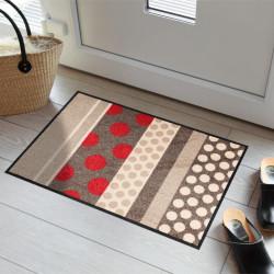 Tapis de propreté - paillasson Glamour Dots rouge - EFIA
