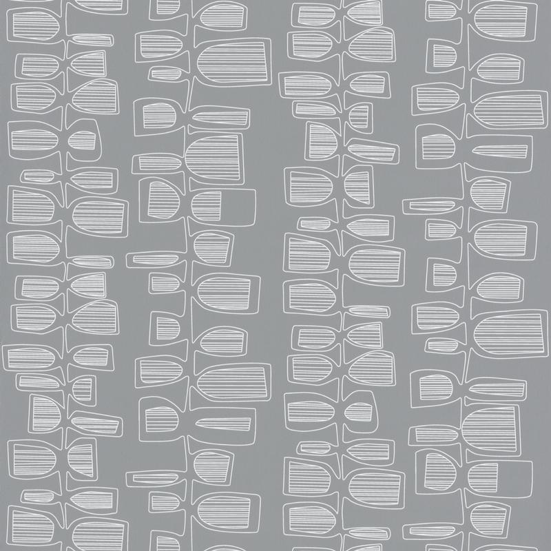 Papier peint Seventies gris- Smile - Caselio