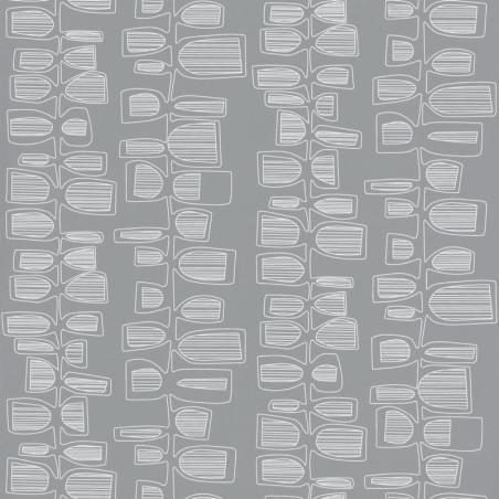 Papier peint Seventies gris - Smile - Caselio
