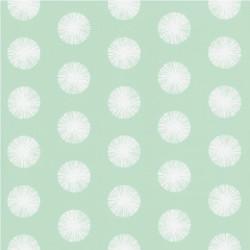 Papier peint pompon vert d'eau - Smile - Caselio