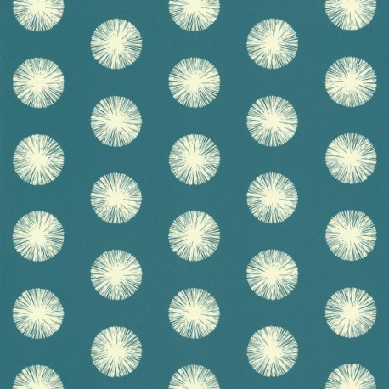 Papier Peint Intisse Motif De Pompons Fond Bleu Canard Smile Caselio