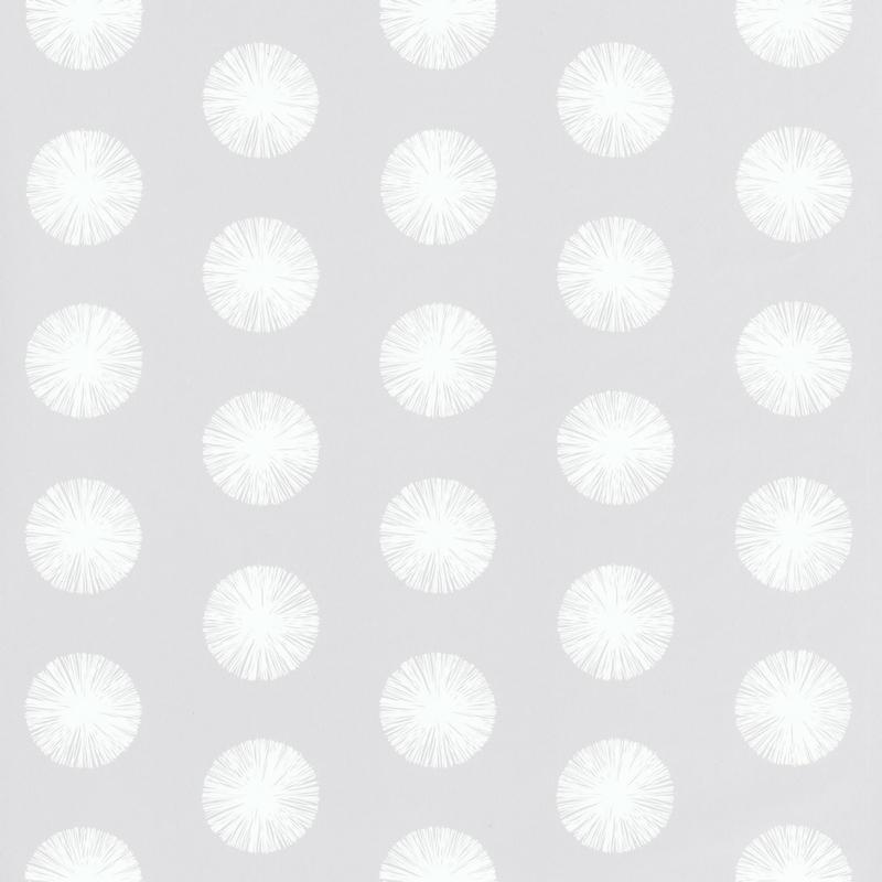 Papier peint pompon gris clair - Smile - Caselio