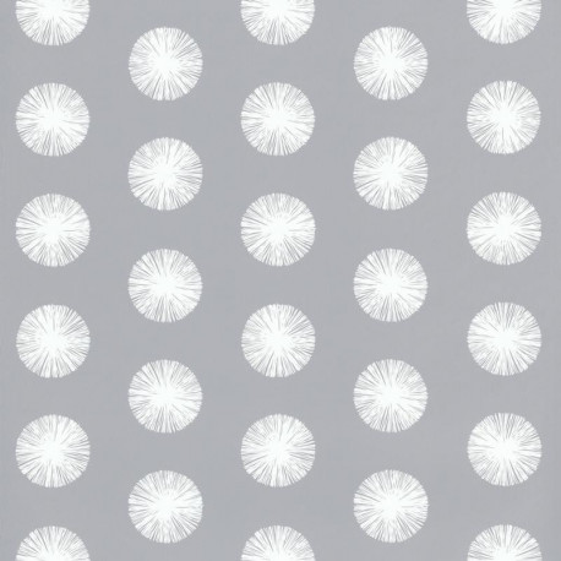 Papier peint pompon gris foncé - Smile - Caselio