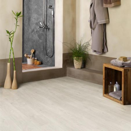 Revêtement PVC - Largeur 4m - Noma parquet bois blanc - Texline Gerflor