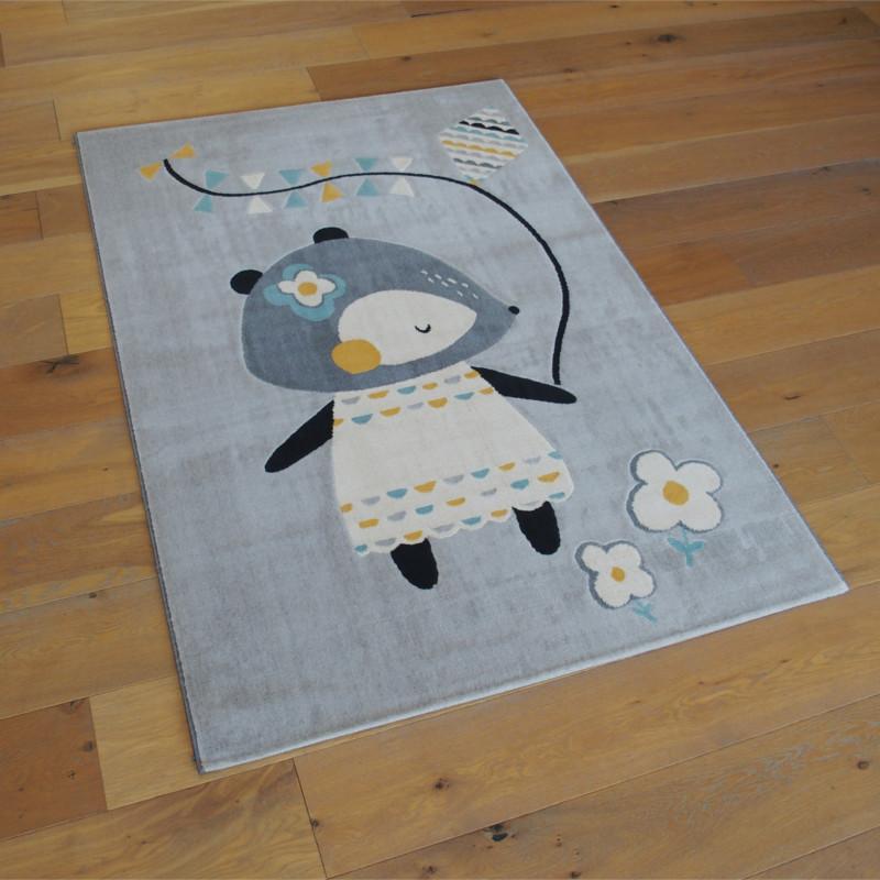 """Tapis enfant """"Petite Souris gris"""" - Canvas BALTA 120x170"""