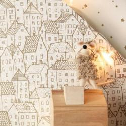 Papier peint pour enfant Maison doré, PRETTY LILI, CASELIO