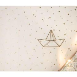 Papier peint pour enfant Étoile dorée , PRETTY LILI, CASELIO