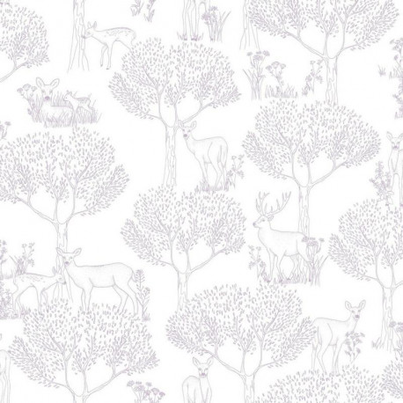 Papier peint Biche violet - PRETTY LILI - Caselio - PRLI69225005