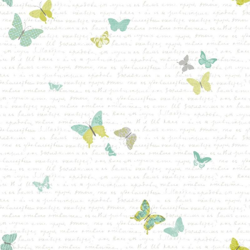 Papier peint Papillons vert - PRETTY LILI - Caselio - PRLI69107079