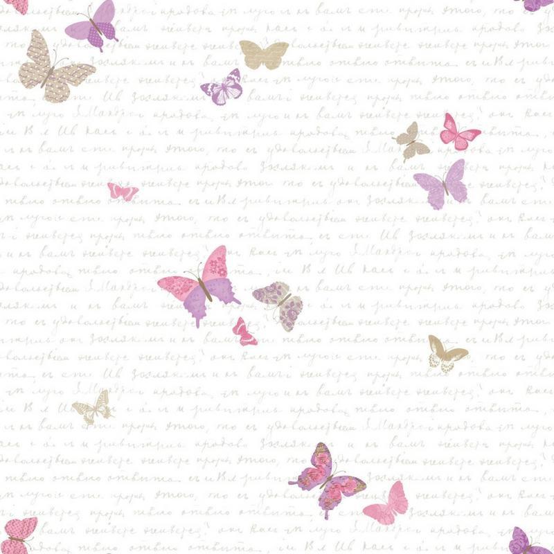 Papier peint Papillons rose et violet - PRETTY LILI - Caselio - PRLI69104050