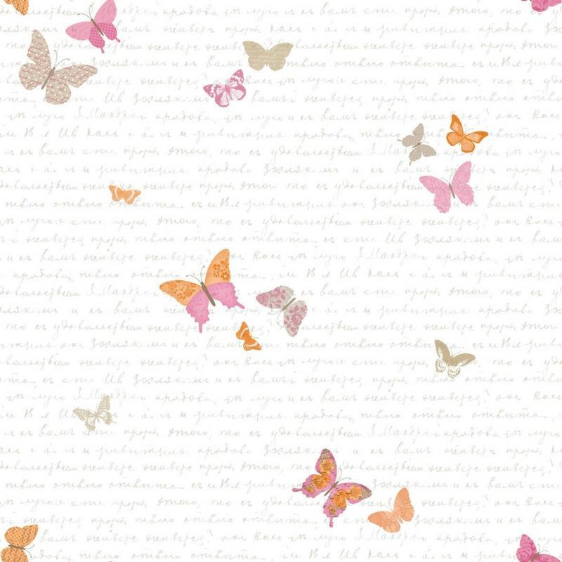 papier peint enfant papillon collection pretty lili de chez caselio. Black Bedroom Furniture Sets. Home Design Ideas