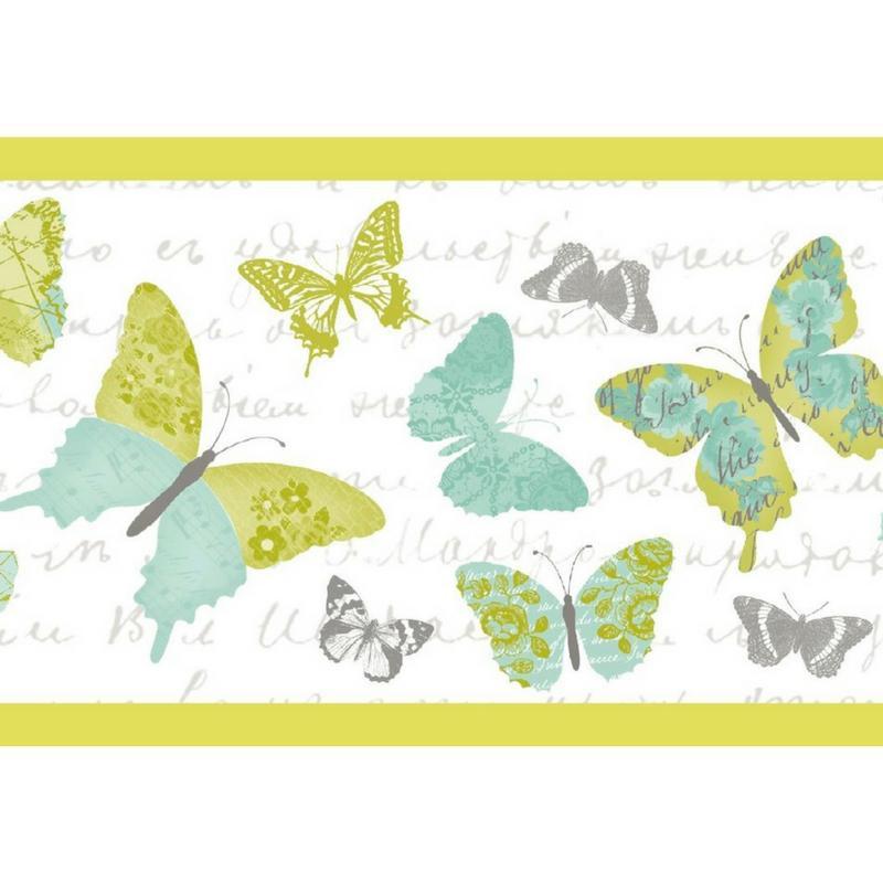 Frise Papillons verts - PRETTY LILI - Caselio - PRLI69117070