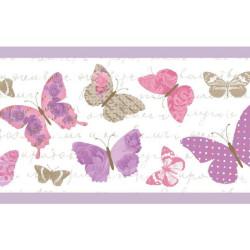 Frise pour enfant, Papillons, violet PRETTY LILI, CASELIO