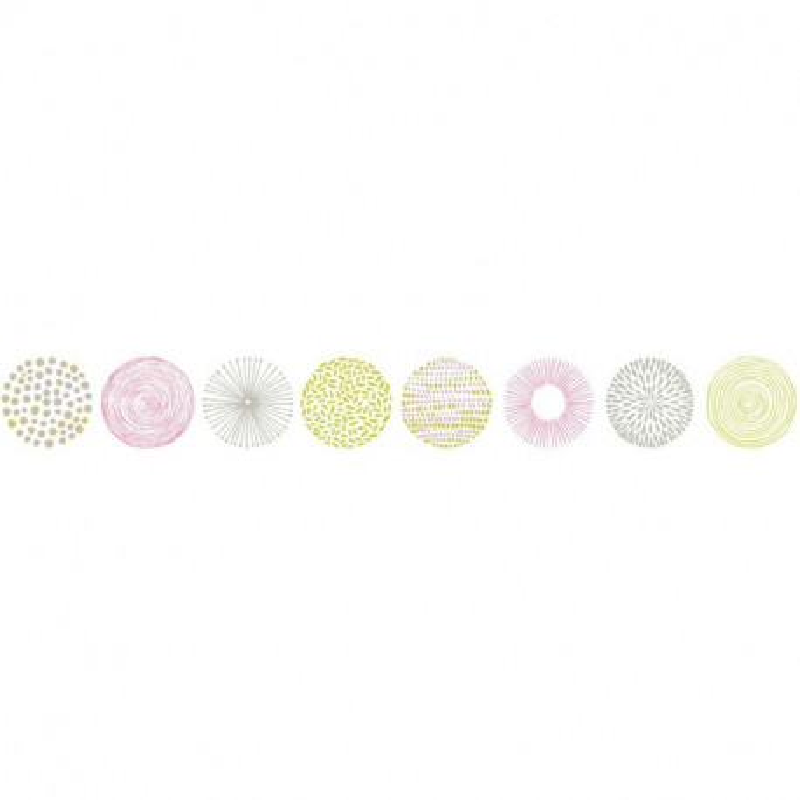 Frise Rond Graph vert et rose - PRETTY LILI - Caselio - PRLI69254072