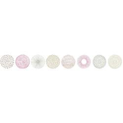Frise Rond Graph taupe et rose - PRETTY LILI - Caselio - PRLI69254013
