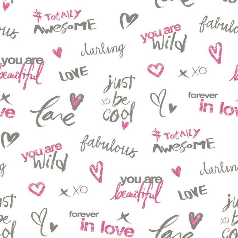 Papier peint Darling rose - PRETTY LILI - CASELIO - PRLI69144000