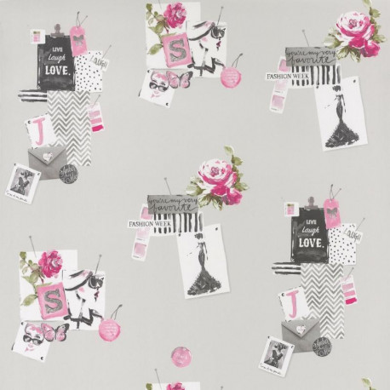 Papier peint Madame rose - PRETTY LILI - Caselio - PRLI69154007