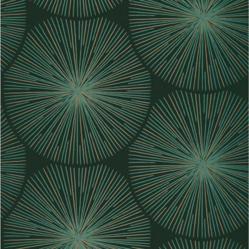 Papier peint Oursin Éclat vert et cuivre - HELSINKI - Casadeco - HELS82047118
