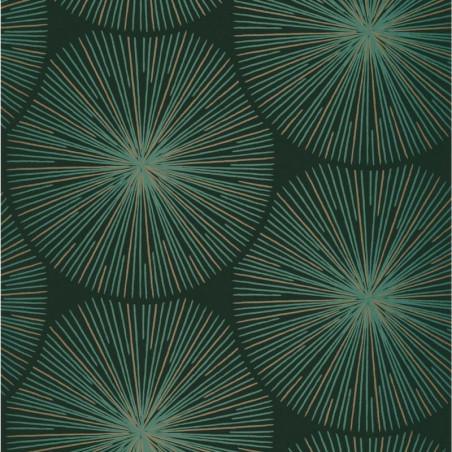 Papier peint Éclat vert empire et cuivre - HELSINKI - Casadeco
