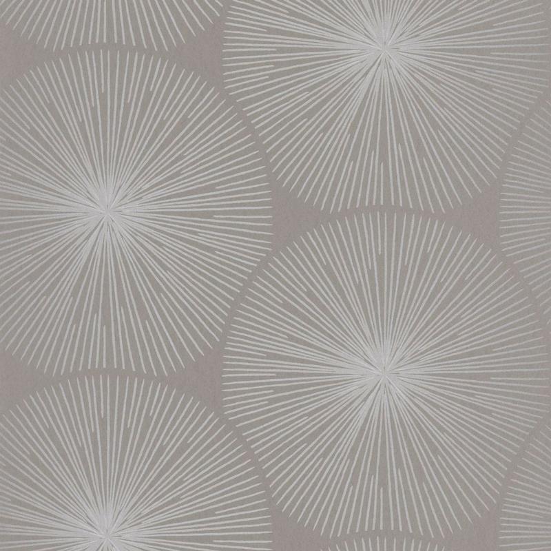 Papier peint Oursin Éclat gris taupe et argenté  - HELSINKI - Casadeco - HELS82041204