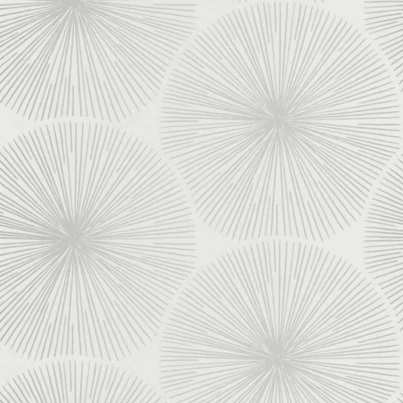 Papier peint Oursin Éclat blanc et taupe argenté  - HELSINKI - Casadeco - HELS82040124