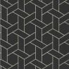 Papier peint Focale, noir, blanc et doré - HELSINKI - Casadeco