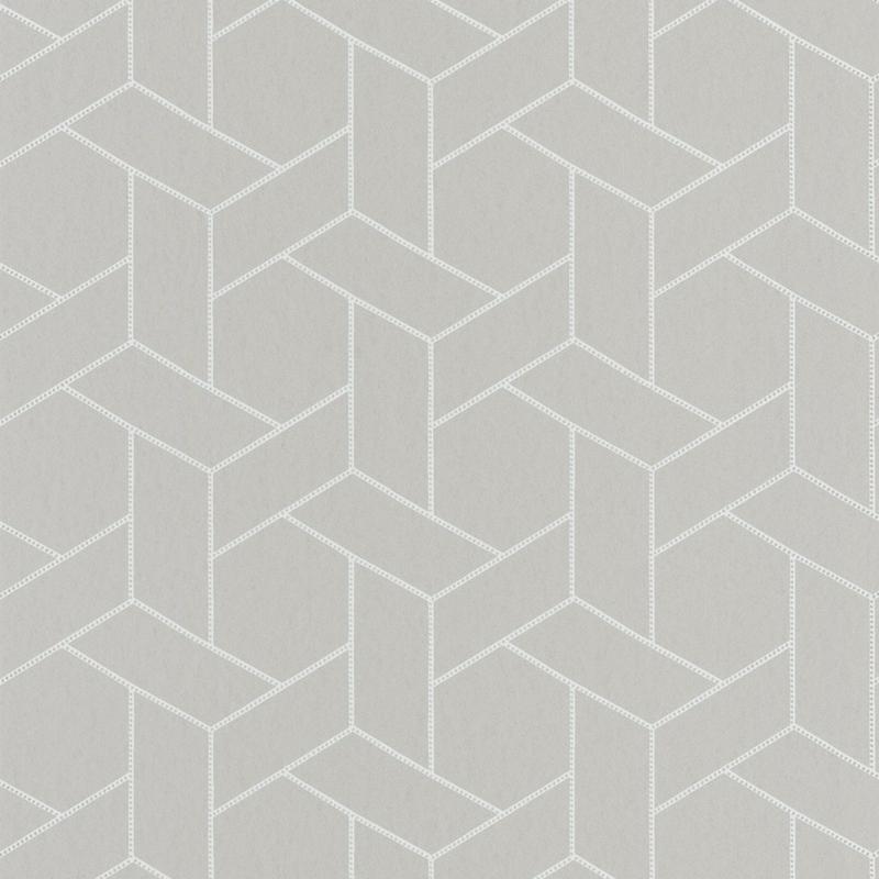 Papier peint Focale gris taupe et argenté - HELSINKI - Casadeco - HELS82031103
