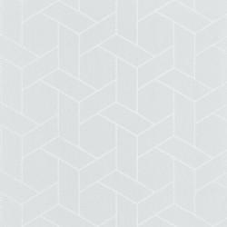 Papier peint Focale gris taupe clair, touche argentée - HELSINKI - Casadeco
