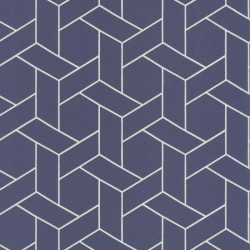 Papier peint Focale bleu pastel, touche dorée - HELSINKI - Casadeco