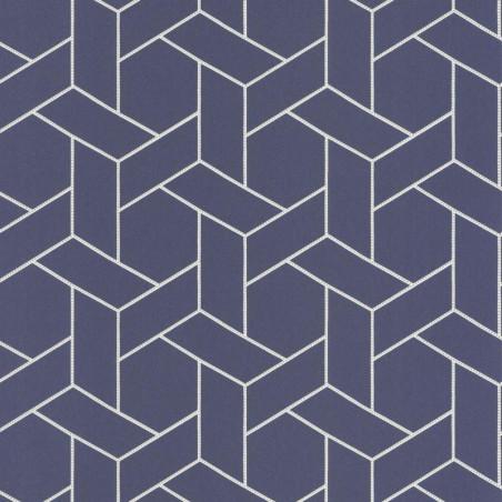 Papier peint Focale bleu, touche dorée - HELSINKI - Casadeco