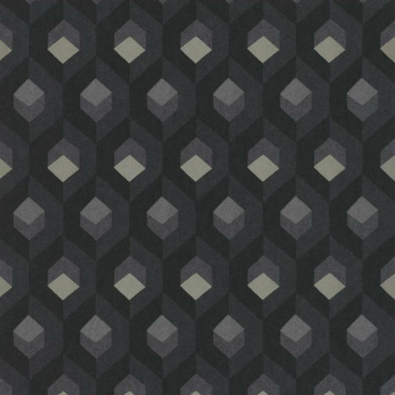Papier peint Hexacube noir et gris - HELSINKI - Casadeco - HELS82059511