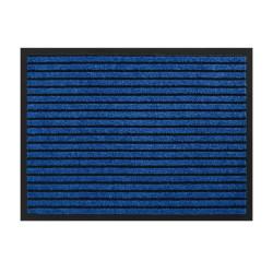 Paillasson / Tapis de propreté rayé TIMELESS bleu - Hamat