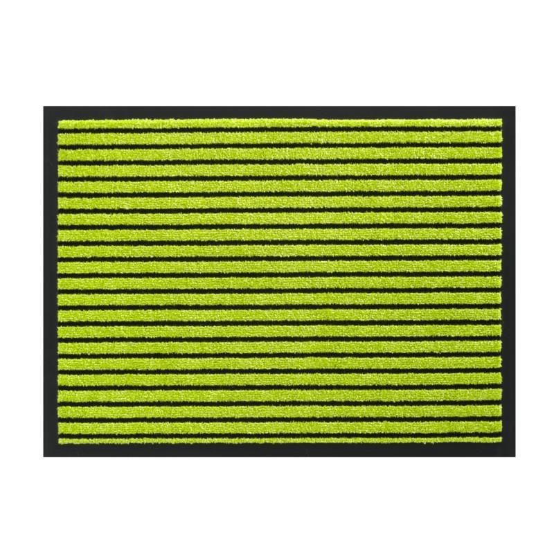 Paillasson / Tapis de propreté rayé TIMELESS citron vert - Hamat