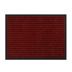 Paillasson / Tapis de propreté rayé TIMELESS rouge - Hamat