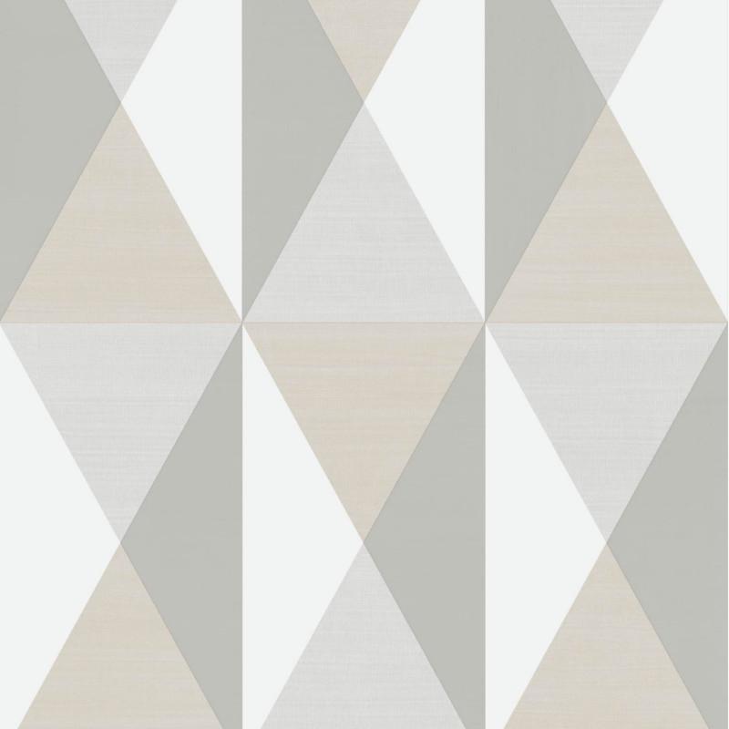 Papier peint Triangles gris et beige - GRAPHIQUE - Ugepa - J679-19/GRA19005