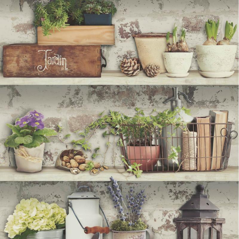 Papier peint Atelier Etabli de Jardin - VOYAGES - Ugepa - L138-04/VOY19048
