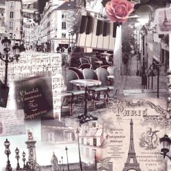 Papier peint patchwork Paris en couleurs - VOYAGES - UGEPA