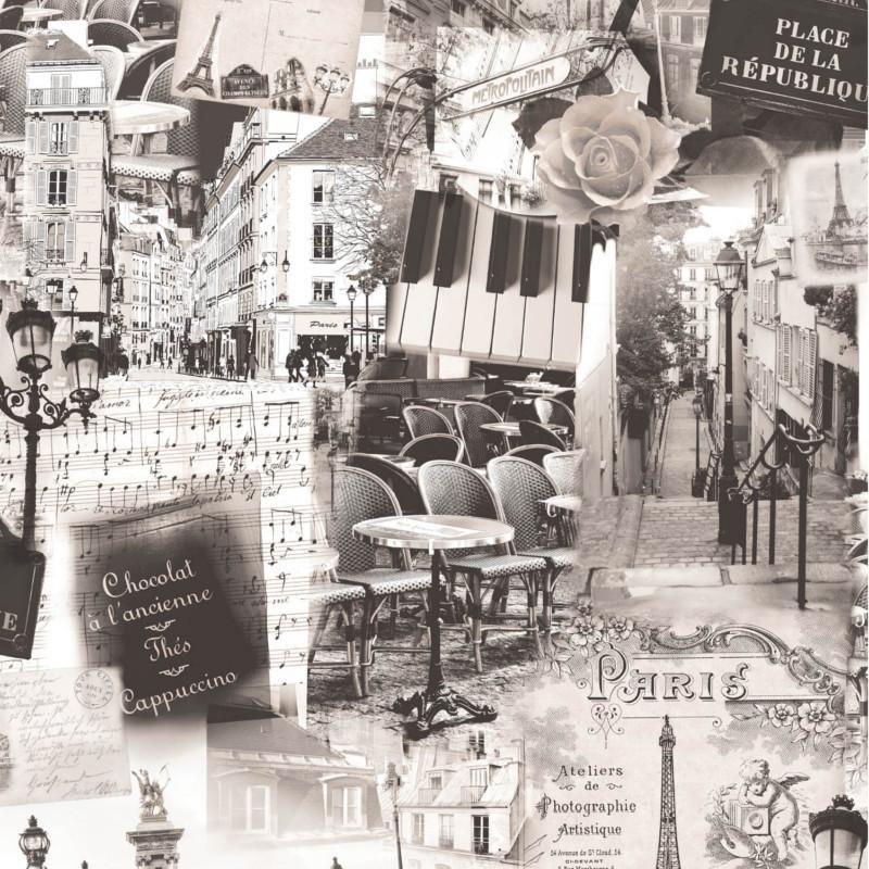 Papier peint Paris sepia - VOYAGES - Ugepa - L349-09/VOY19062