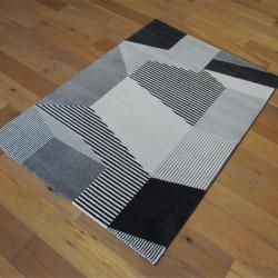 Tapis très doux motif Géométrique gris et noir - 160x230cm - ELLE - BALTA