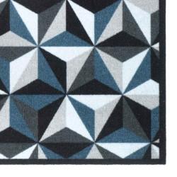 Paillasson / Tapis de propreté FASHION illusion gris/bleu - 50x120cm Hamat