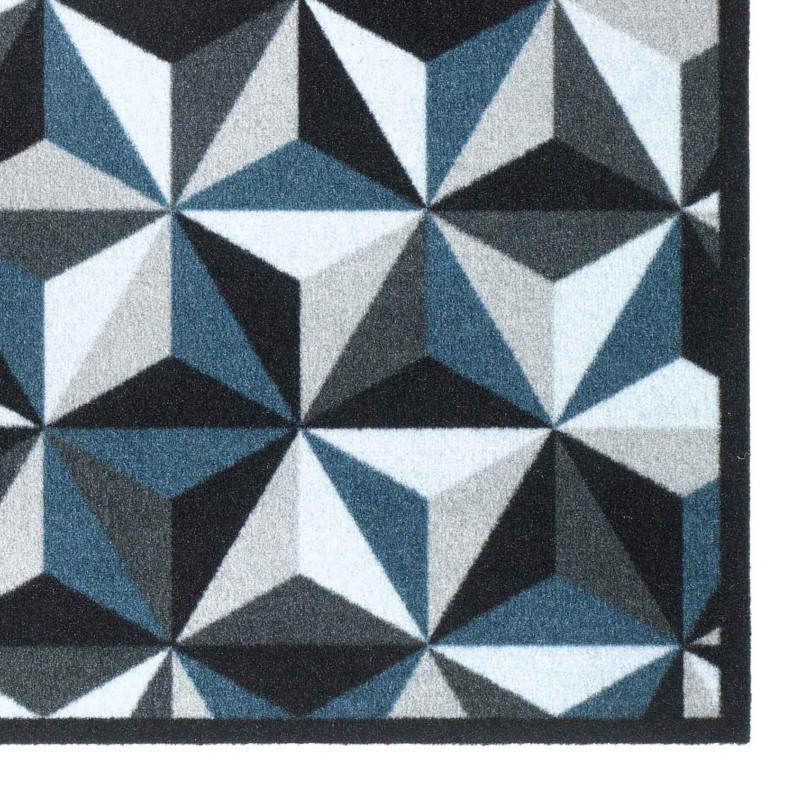 Paillasson Tapis De Proprete Fashion Illusion Gris Bleu 50x120 Hamat