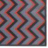 Paillasson / Tapis de propreté FASHION chevrons rouge/gris - 50x120cm Hamat