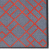 Paillasson / Tapis de propreté FASHION brique rouge/gris - 50x120cm Hamat