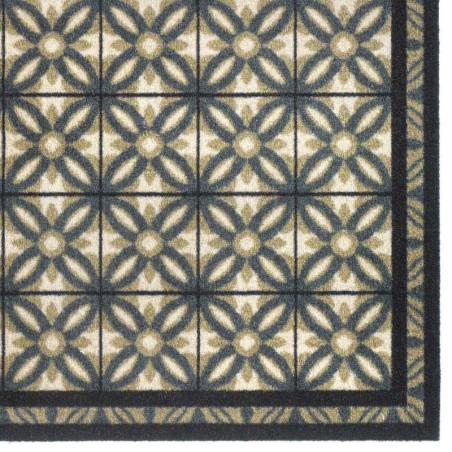 Paillasson / Tapis de propreté FASHION Carreaux espagnols beige - 50x120cm Hamat