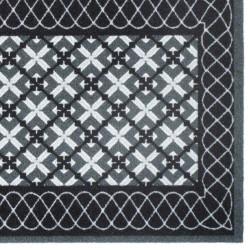 Paillasson / Tapis de propreté FASHION Treillis anthracite - 50x120cm Hamat