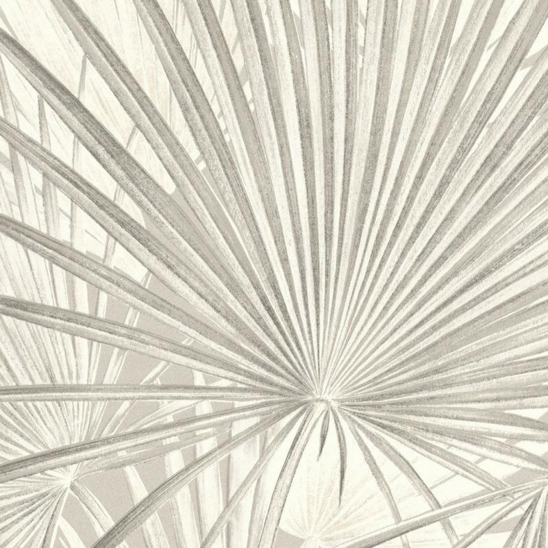 Papier Peint Intisse Palmiers Gris De La Collection Lucy In The Sky