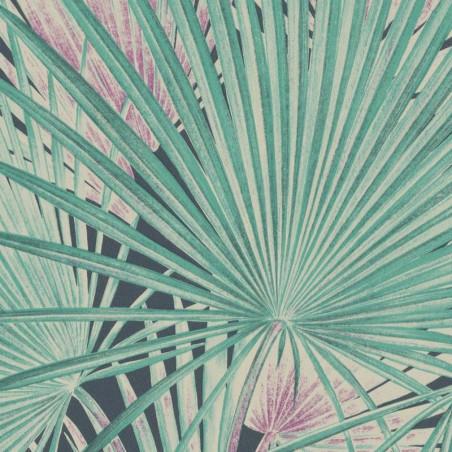 Papier peint Palmier vert gris - Lucy in the sky - Rasch