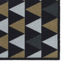 Paillasson / Tapis de propreté PRESTIGE triangles graphic noir Hamat