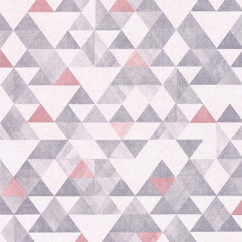 Papier peint Triangle rose et gris - RETRO VINTAGE - Lutèce - 11170103