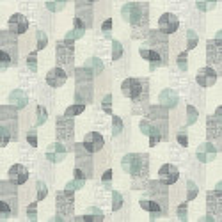 Papier peint rondamier bleu gris - Rétro Vintage - Lutèce